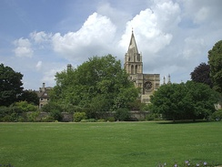 Christ Church Cathedral from the east across Christ Church Meadow