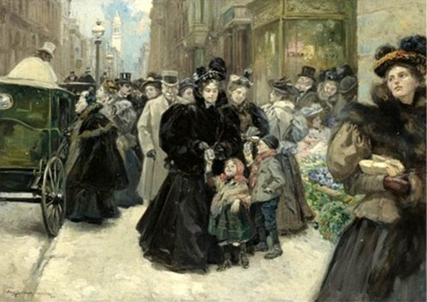 Christmas on Fifth Avenue in 1896