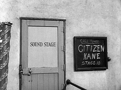 Sound stage entrance, as seen in the Citizen Kane trailer