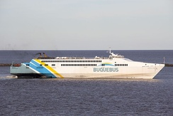 Buquebus high-speed ferries connect Buenos Aires to Uruguay