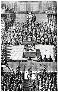 The trial of Charles I on 4 January 1649.