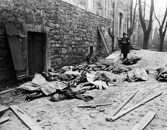 Belgian civilians killed by German units during the Battle of the Bulge