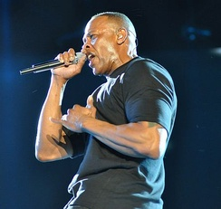 Dr. Dre performs at the 2012 Coachella Valley Music and Arts Festival.