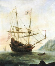 The discovery of the New World by Italian explorer Christopher Columbus
