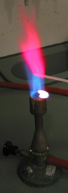 Color produced when lithium chloride is heated