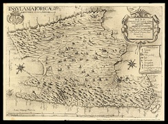 A 1683 map of Mallorca, by Vicente Mut