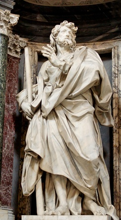 Statue of St. James in the Archbasilica of St. John Lateran by Angelo de Rossi.
