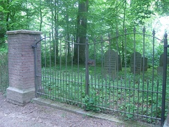 Jewish cemetery at Kasteelwal in Buren, The Netherlands