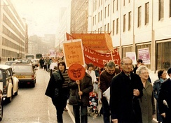 A miners' strike rally in 1984