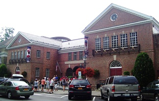 Entrance to the National Baseball Hall of Fame and Museum