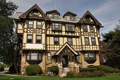 The Chestnut Hill, an 1899 apartment house in Newton, Massachusetts