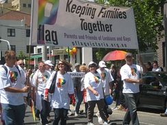 Parents and Friends of Lesbians and Gays march at an Australian Pride parade in 2011.