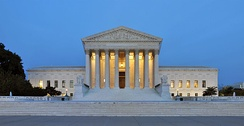 The present U.S. Supreme Court building as viewed from the front