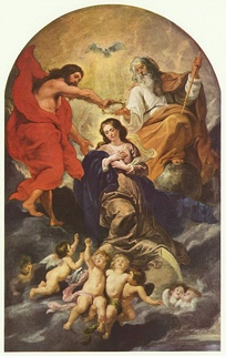 The coronation of the Virgin Mary by Rubens, c. 1625