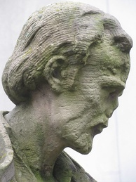 Head of Melanchton statue at Lessing-Gymnasium (Frankfurt), whose founder had been influenced by personal contacts with Melanchton