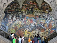 Diego Rivera's mural The History of Mexico at the National Palace in Mexico City (1929-1935).