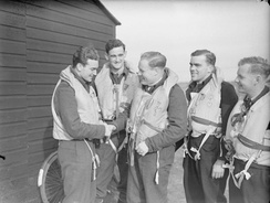 Finucane (left) and Keith Truscott after a successful sortie, October 1941.