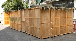 A sukkah booth