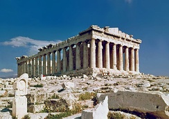 The Parthenon on the Acropolis of Athens, emblem of classical Greece.