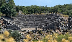 The Roman theater in Pinara.
