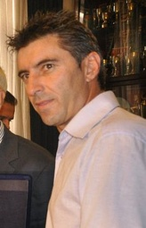 "Thodoris Zagorakis, captain of the national team and ""player of the tournament"" in Euro 2004."
