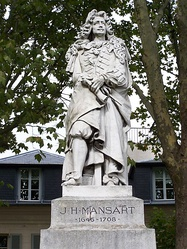 Statue of the architect J.H. Mansart at Versailles by Antoine-Augustin Préault.