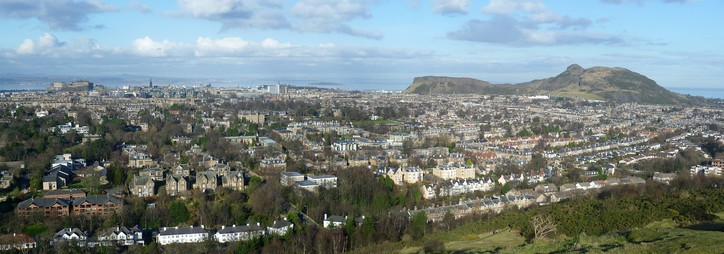 View of Edinburgh from Blackford Hill