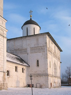 The Resurrection Cathedral, built during the 1460s, is one of the last limestone cathedrals in Russia