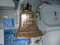 Westminster's ship's bell