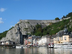 Modern view of Dinant and the citadel