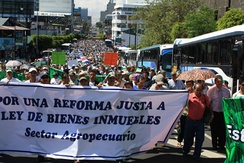 Costa Rican agricultural unions demonstration, January 2011
