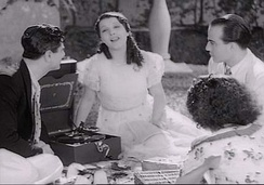 Libertad Lamarque and others actors in the film Argentina Ayúdame a vivir (1936).