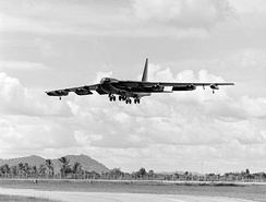 B-52D approaching U-Tapao in October 1972