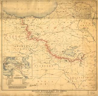 Граница между Турцией и Арменией, определённая президентом США Вудро Вильсоном.