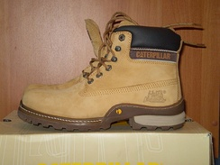 Caterpillar-branded work boots manufactured by Wolverine World Wide