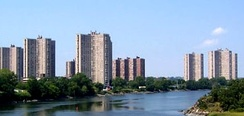 Co-op City in The Bronx, New York City is the largest cooperative housing development in the world, with 55,000 people.[45]