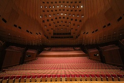 View from the stage of the Concert Hall.