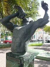 Conch Blower statue, Emancipation Garden