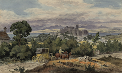 Lancaster from the south in 1825