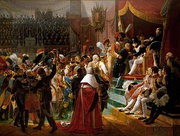 First Légion d'Honneur investiture, 15 July 1804, at Saint-Louis des Invalides by Jean-Baptiste Debret (1812).