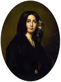 "A young George Sand (real name ""Amantine Lucile Dupin"")"