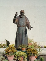 A sculpture of Padre Pio in Rome