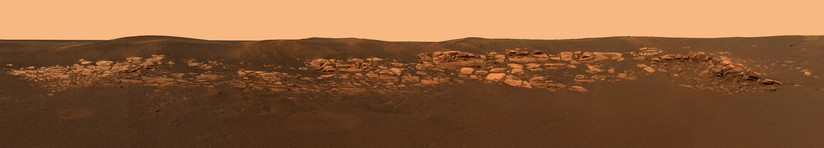 Panorama of rocks near the Opportunity Rover – Eagle crater (March 5, 2004).