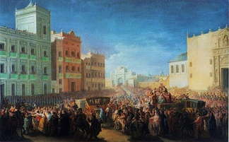 Triumphal welcome of Ferdinand at Valencia, 1815