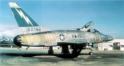 North American F-100D-40-NH Super Sabre Serial 55-2760 assigned to the 8th TFS/49th TFW