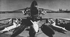 Weapons loadout of an F-8 Crusader