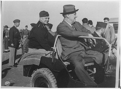 General Eisenhower, General Patton and President Roosevelt in Sicily, 1943