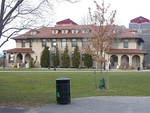 Many of Queens College's original Spanish-style buildings are still in use today.