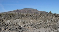 Glass Mountain, a large obsidian flow at Medicine Lake Volcano in California