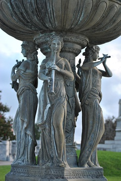 Statue of the Muses at Greenwood Cemetery